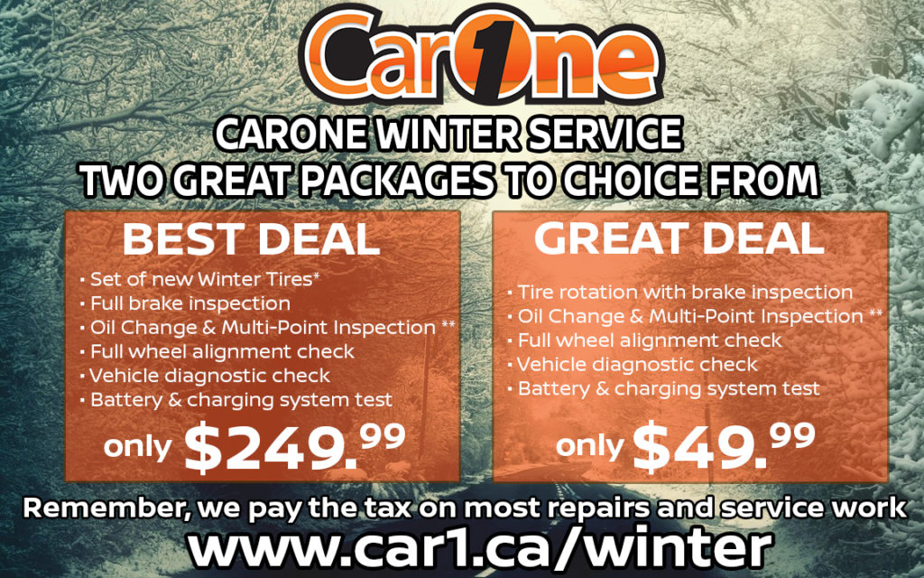 CarOne Winter Service Packages - CarOne - Kingston, ON Used